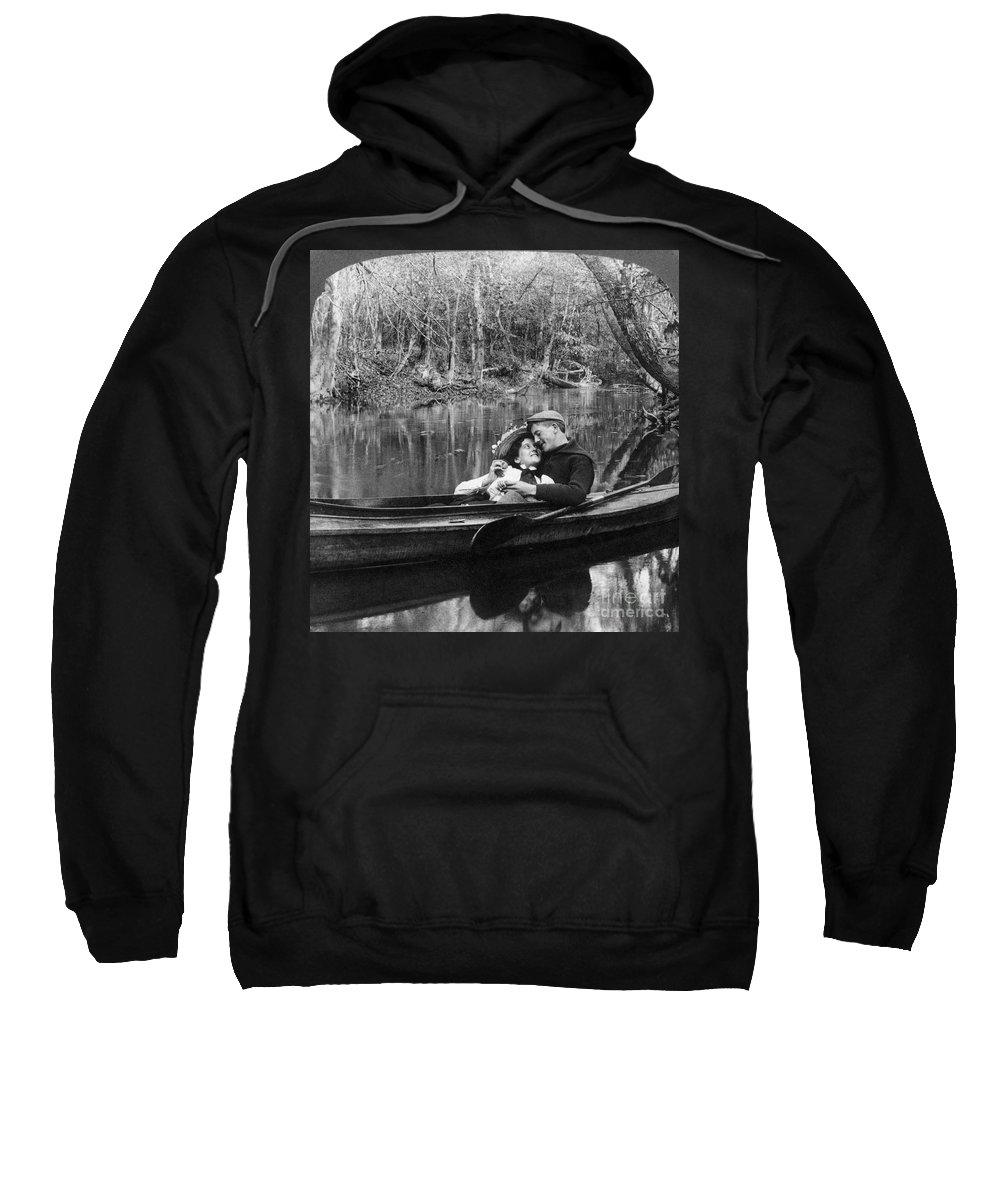 1900 Sweatshirt featuring the photograph Love, C1900 by Granger