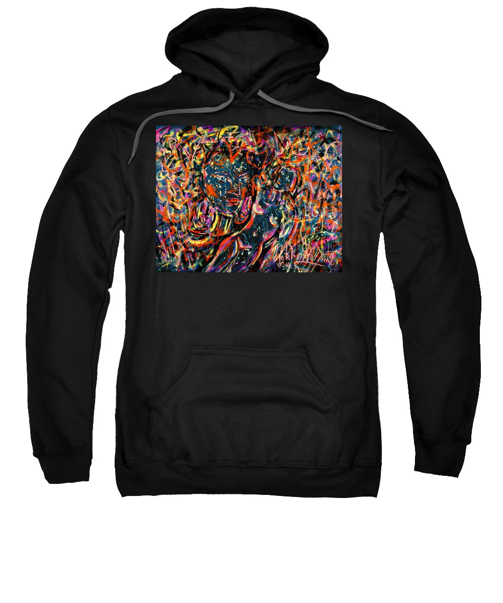 Love Passion Sweatshirt featuring the painting Love Graffiti by Natalie Holland