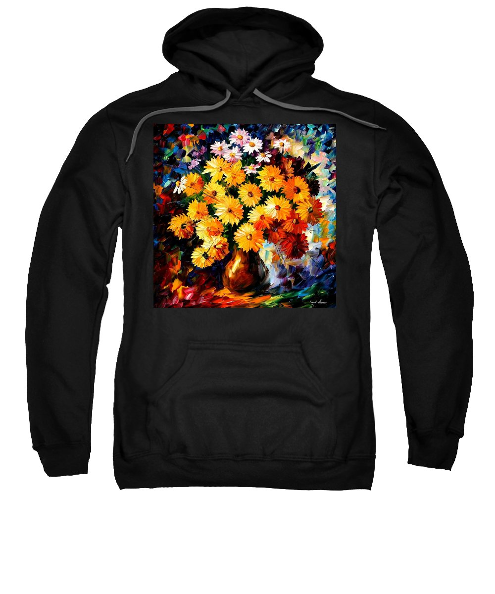 Flowers Sweatshirt featuring the painting Love Irradiation by Leonid Afremov