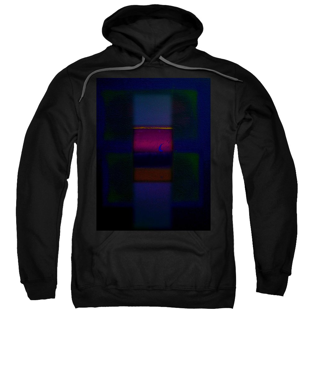 Rothko Sweatshirt featuring the painting Love Is Blue by Charles Stuart