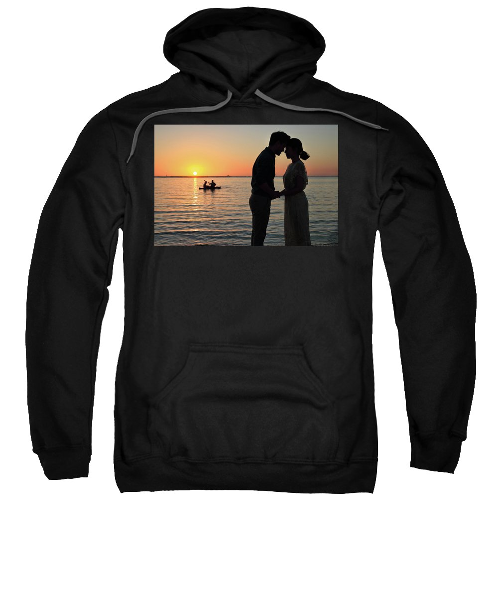 Sunset Sweatshirt featuring the photograph Love Is Forever by Seil Frary