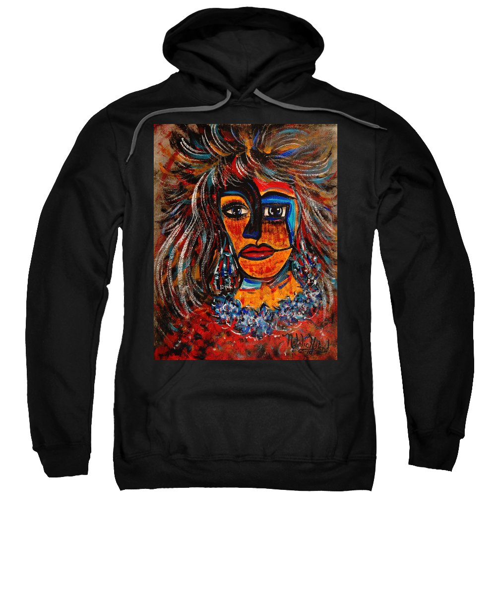 Expressionsim Sweatshirt featuring the painting Love Me Or Leave Me by Natalie Holland
