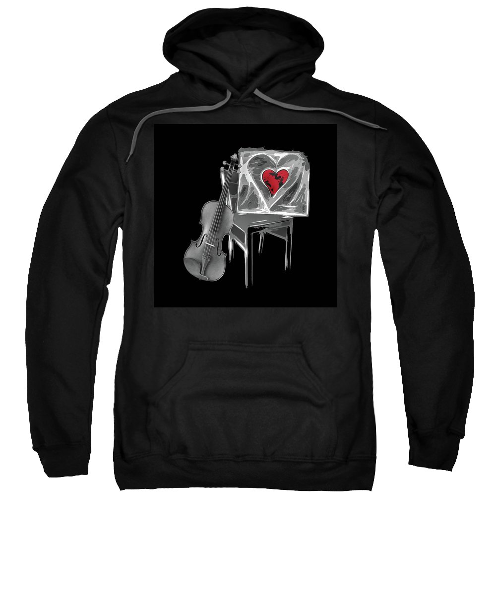 Love Sweatshirt featuring the photograph Love Melody by Manfred Lutzius