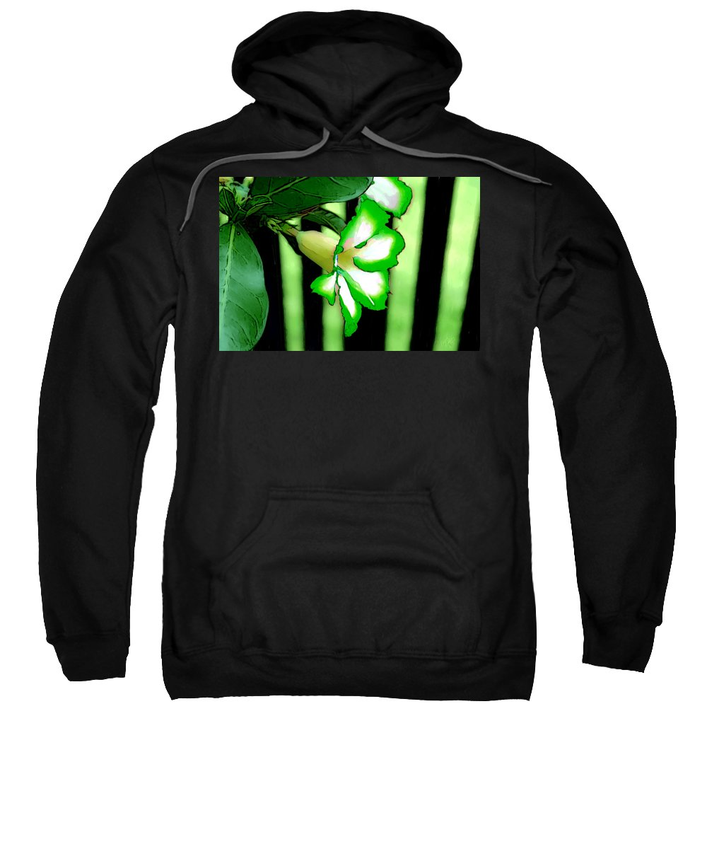 Bruce Sweatshirt featuring the painting Loving The Color Green by Bruce Nutting