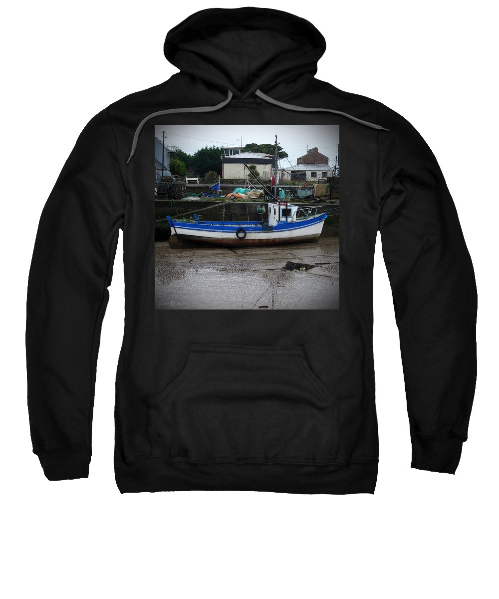 Boat Sweatshirt featuring the photograph Low Tide by Tim Nyberg