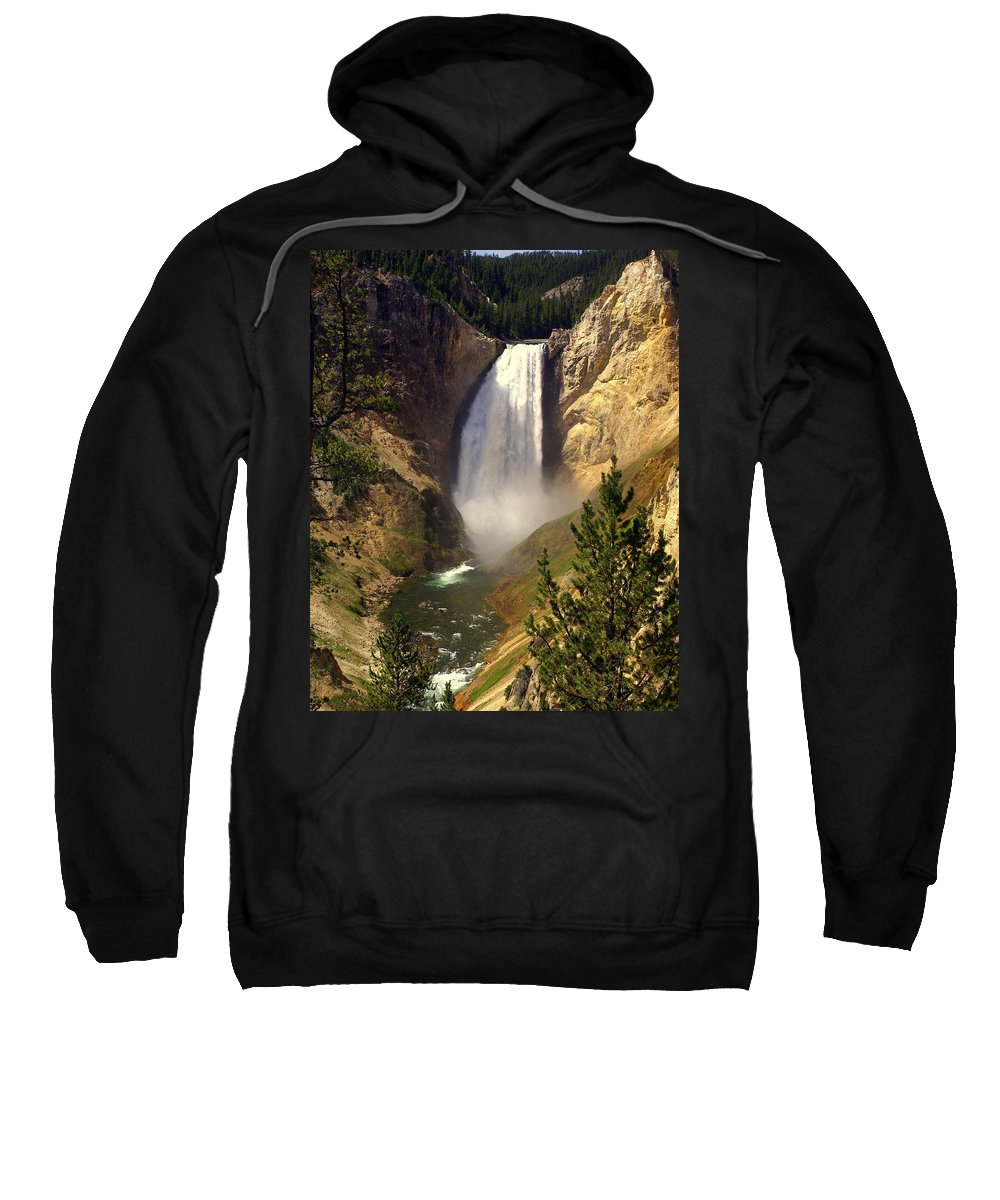 Waterfall Sweatshirt featuring the photograph Lower Falls by Marty Koch