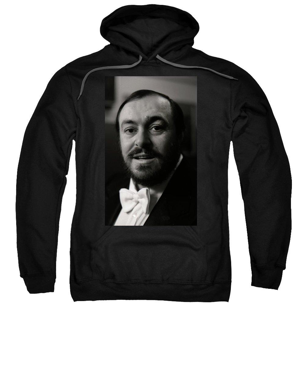 Pavarotti Sweatshirt featuring the photograph Luciano Pavarotti by KG Thienemann