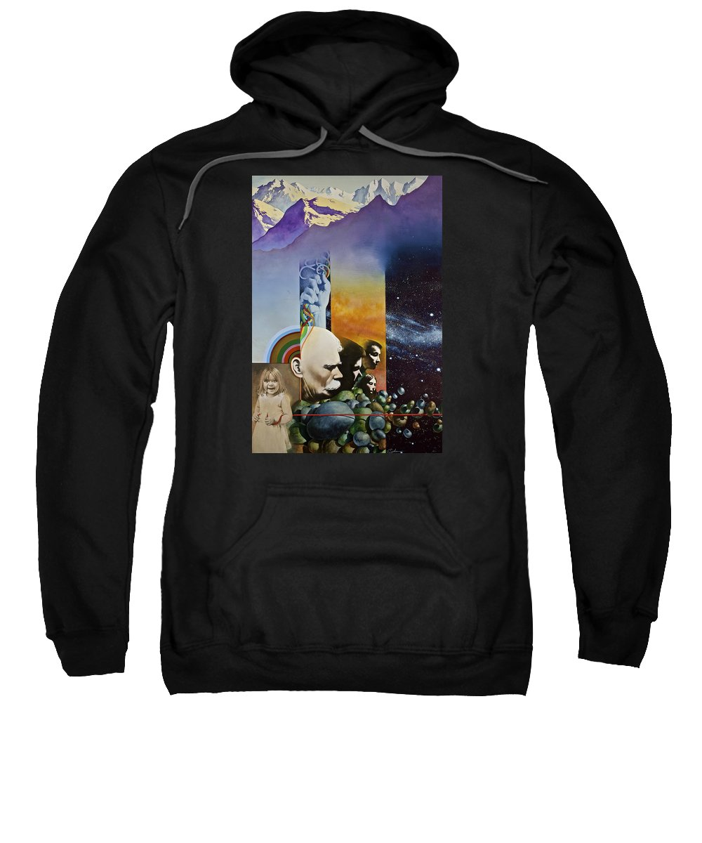 Water Color Sweatshirt featuring the painting Lucid Dimensions by Cliff Spohn