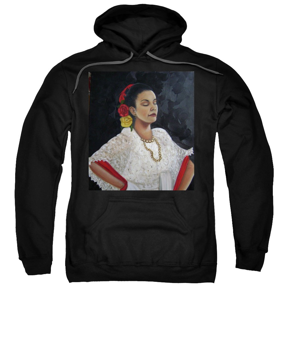 Sweatshirt featuring the painting Lucinda by Toni Berry