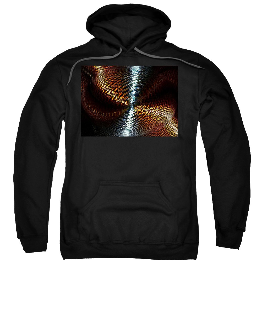 Abstract Sweatshirt featuring the digital art Luminous Energy 10 by Will Borden