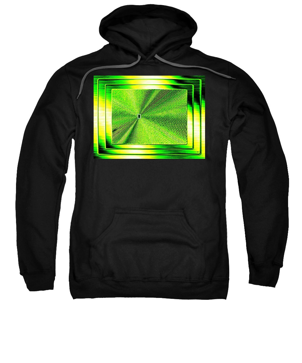 Abstract Sweatshirt featuring the digital art Luminous Energy 14 by Will Borden