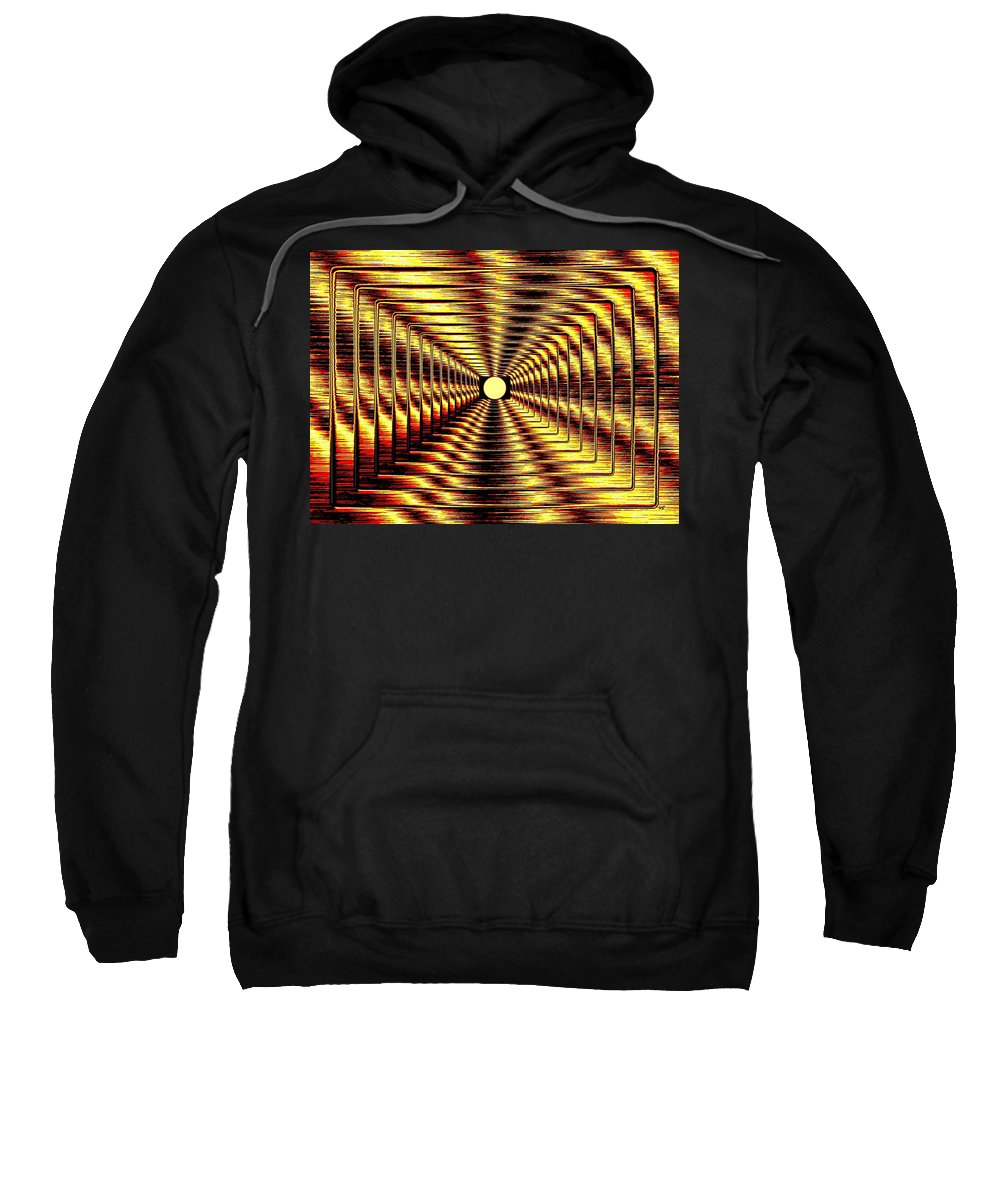 Abstract Sweatshirt featuring the digital art Luminous Energy 2 by Will Borden