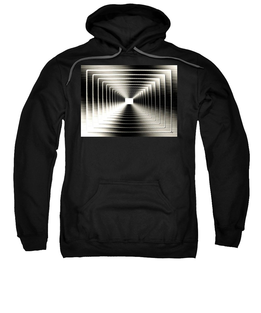 Abstract Sweatshirt featuring the digital art Luminous Energy 3 by Will Borden