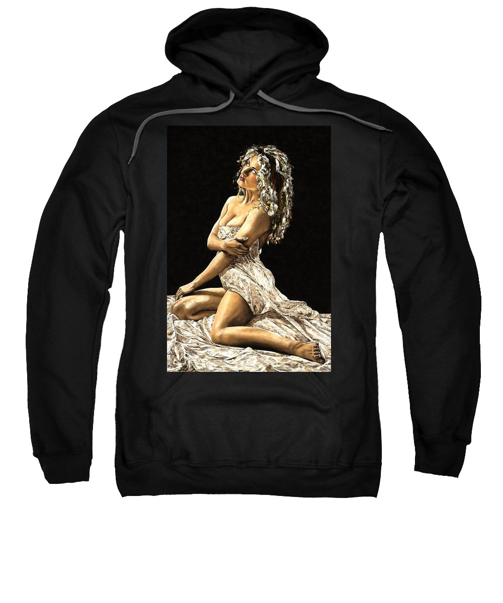 Nude Sweatshirt featuring the painting Luminous by Richard Young
