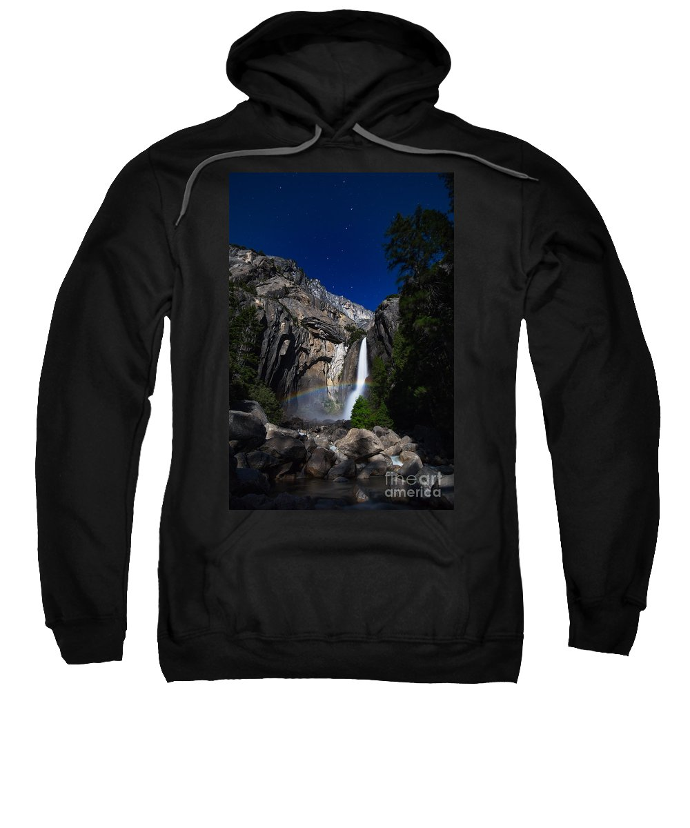 Yosemite Sweatshirt featuring the photograph Lunar Rainbow by Anthony Bonafede