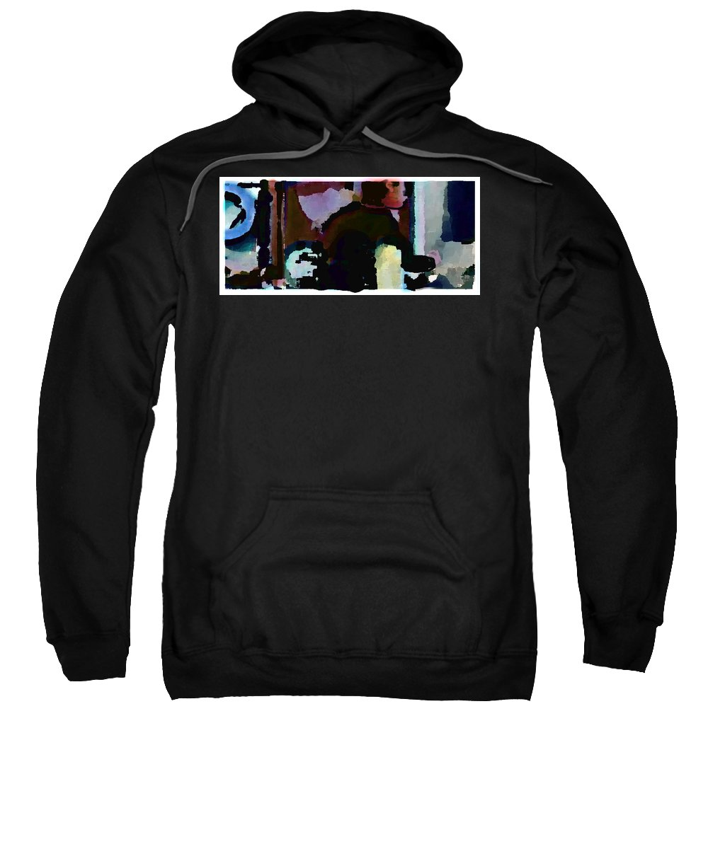 Abstract Expressionism Sweatshirt featuring the painting Lunch counter by Steve Karol