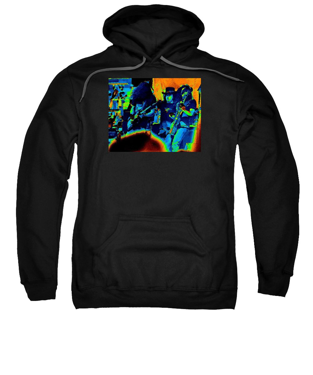 Allen Collins Sweatshirt featuring the photograph L S Pastel Oakland 2 by Ben Upham