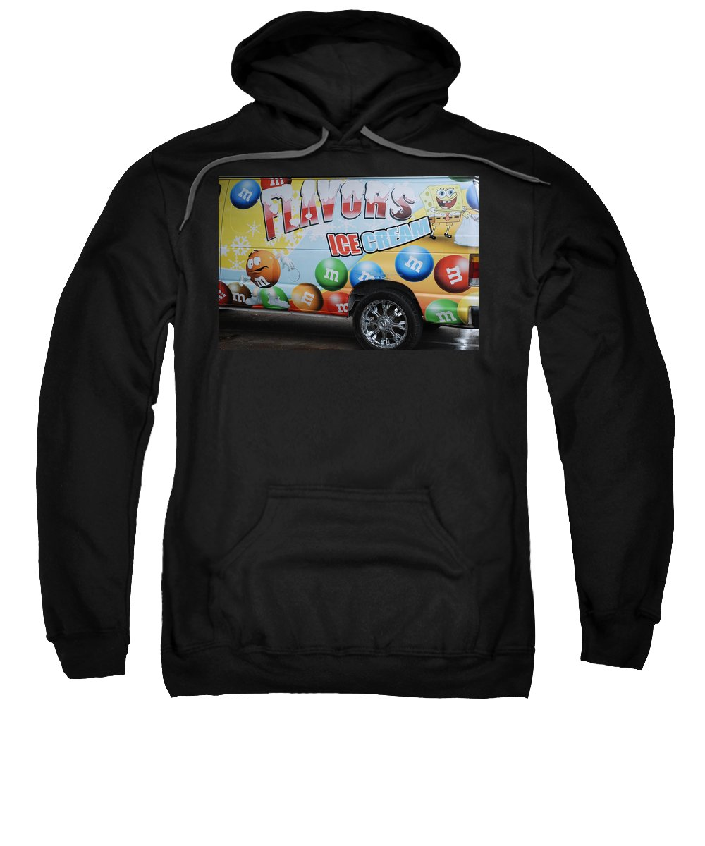 Sponge Bob Sweatshirt featuring the photograph M And M Flavors For The Kids by Rob Hans