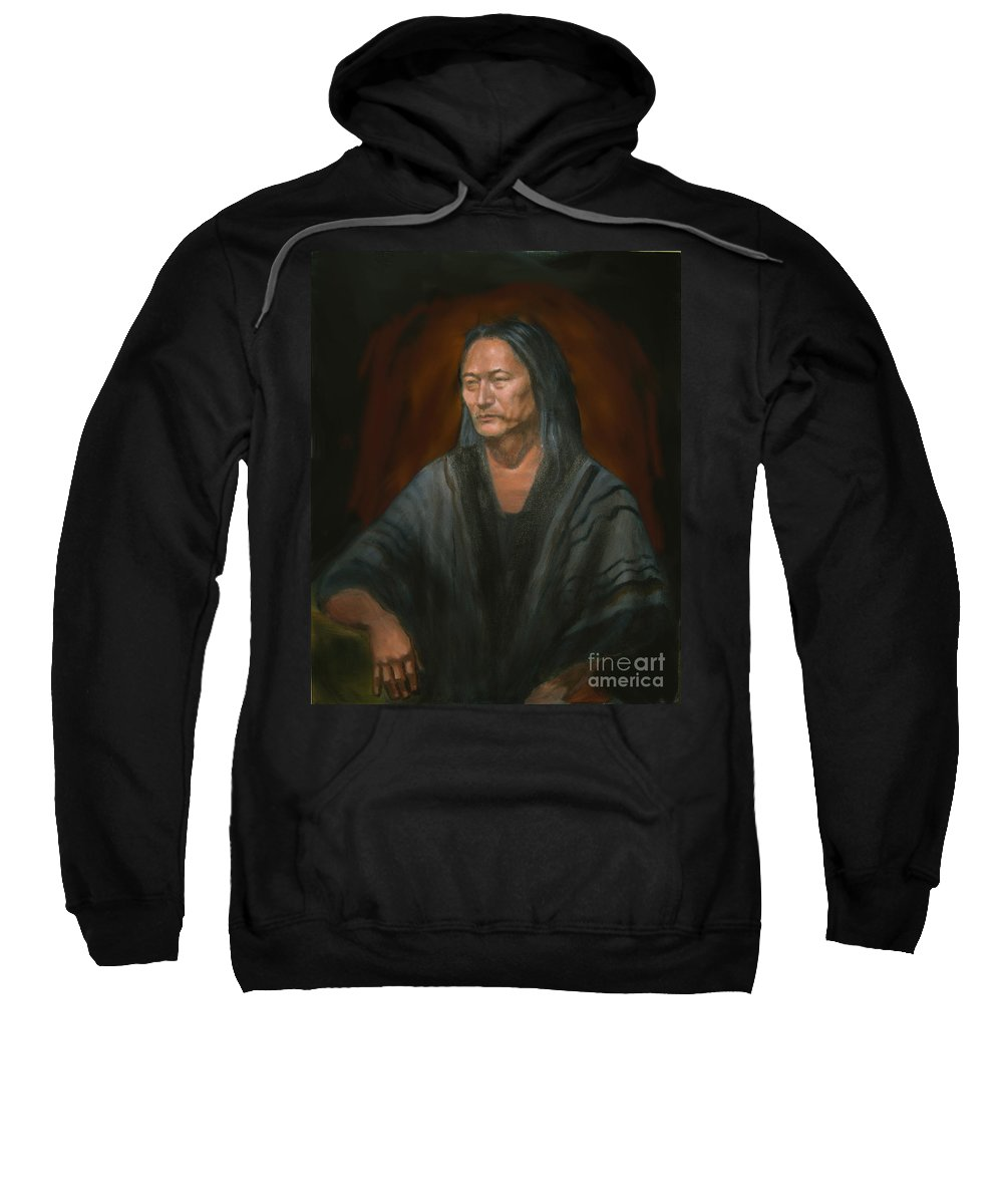 Sweatshirt featuring the painting #m14'11 by Sam Shacked