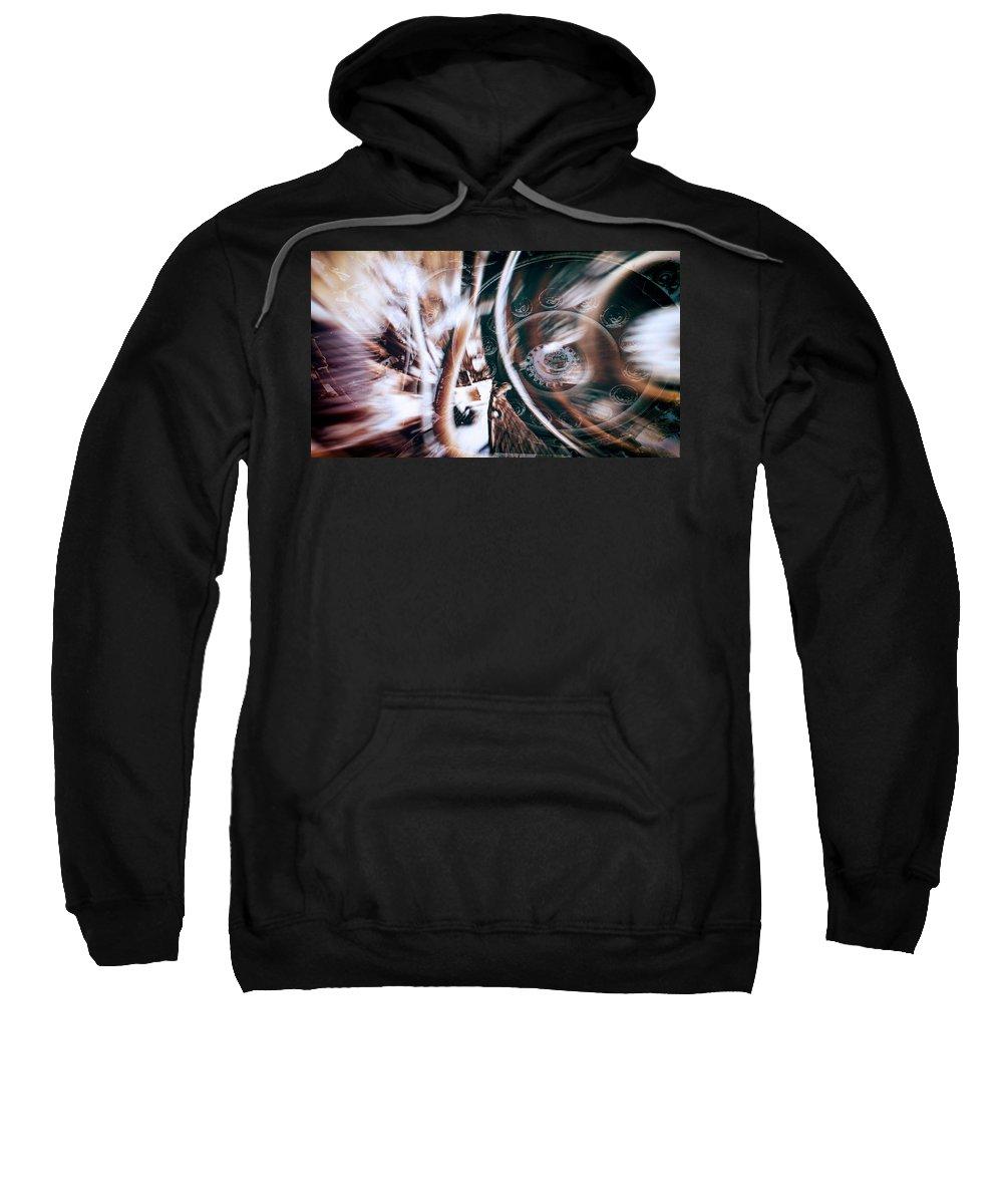 Machine Abstract Sweatshirt featuring the photograph Machine Speed Warp In Blur by John Williams