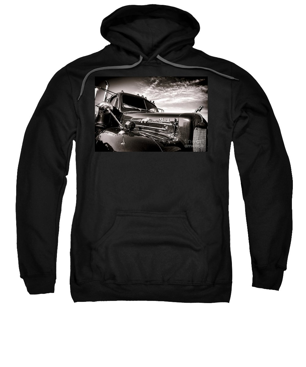 Mack Sweatshirt featuring the photograph Mack B61 Ghost by Olivier Le Queinec