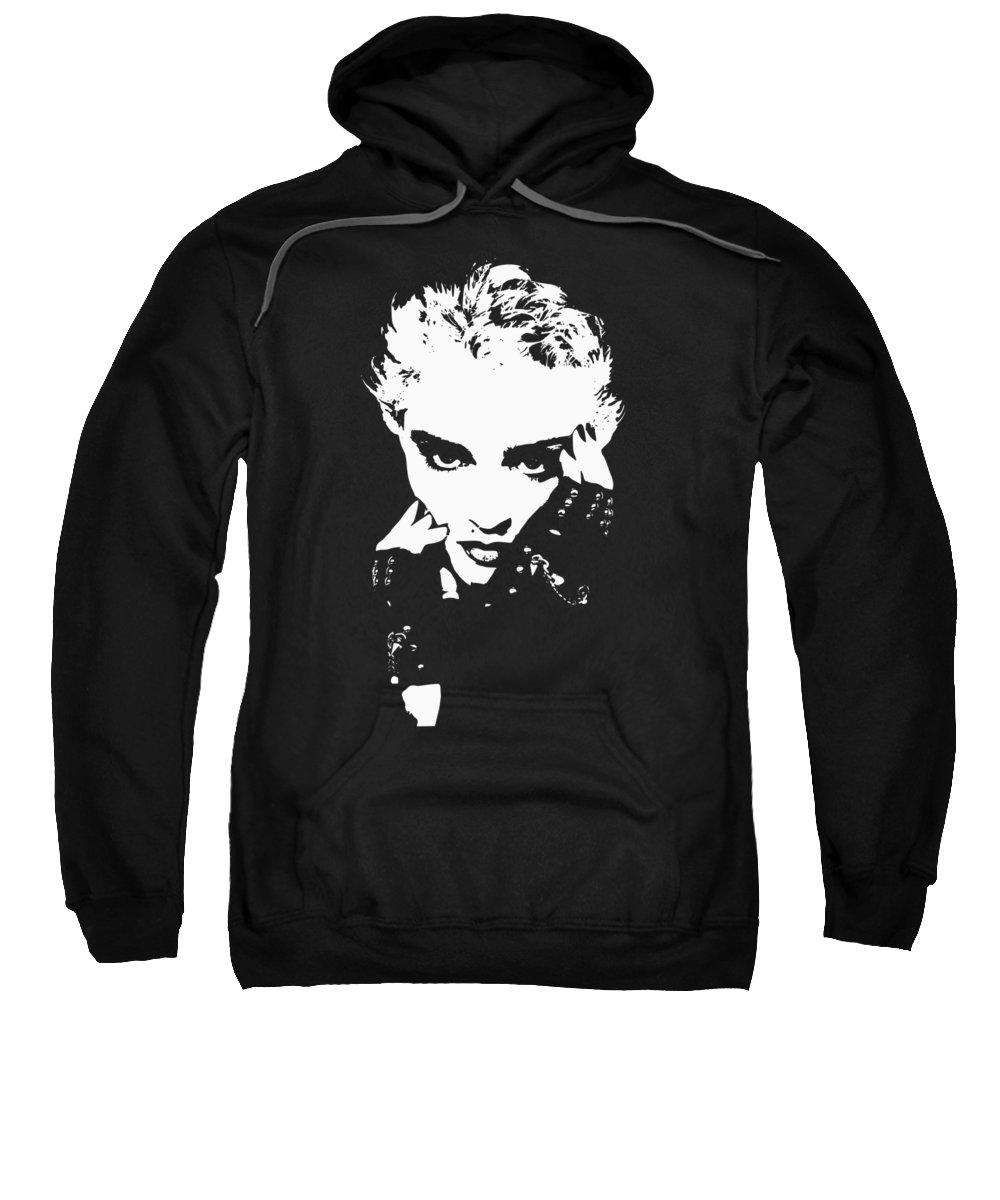 Madonna Sweatshirt featuring the digital art Mad Donna by Filip Schpindel