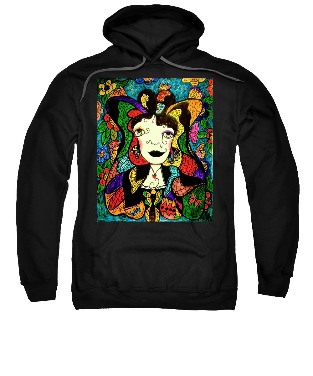 Fantasy Sweatshirt featuring the painting Madame Butterfly by Natalie Holland