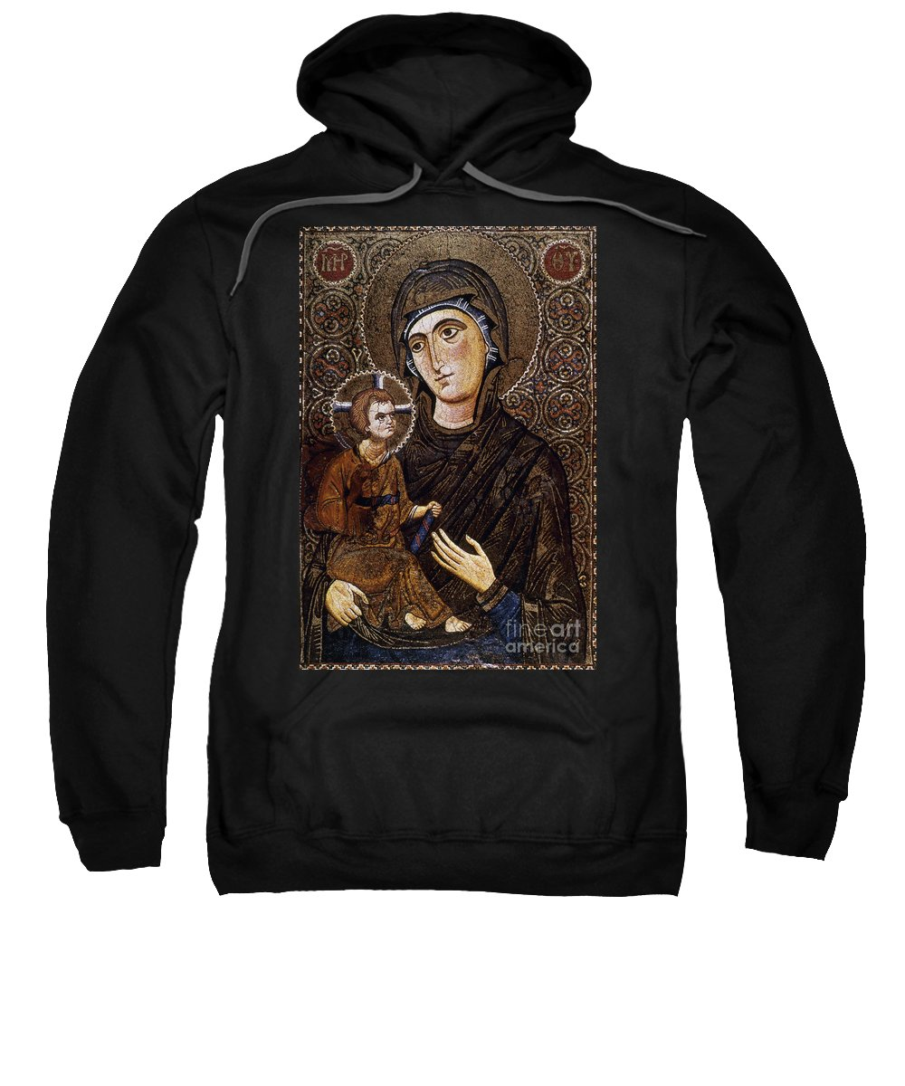 13th Century Sweatshirt featuring the photograph Madonna Icon by Granger