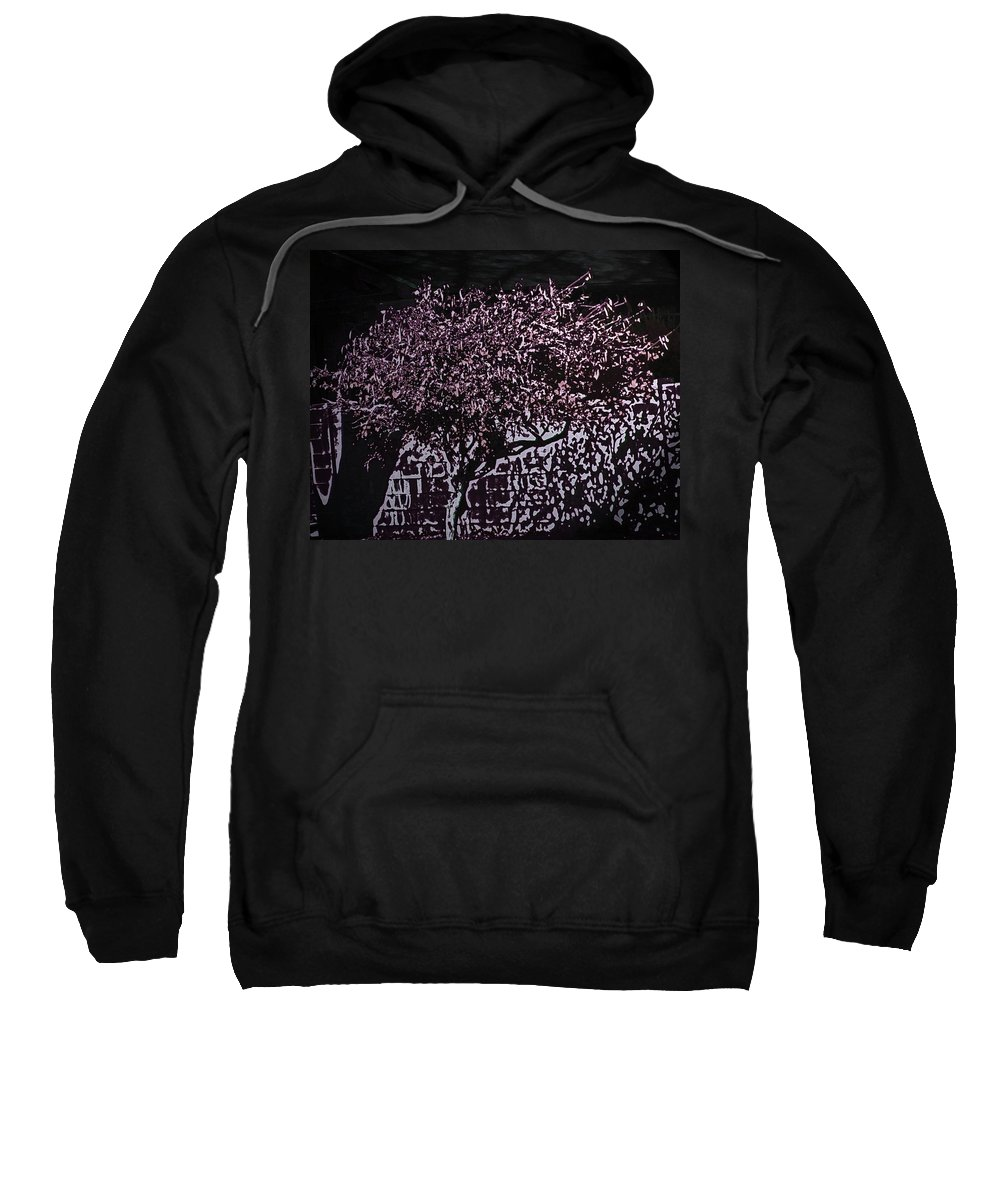Abstract Sweatshirt featuring the digital art Magenta by Lenore Senior