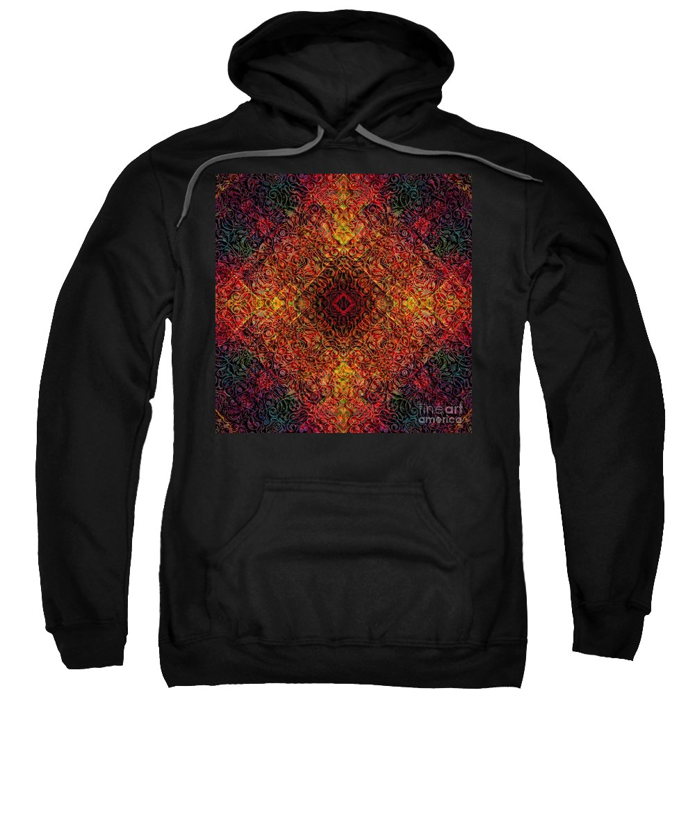 Magic Sweatshirt featuring the digital art Magic 19 by Justyna JBJart