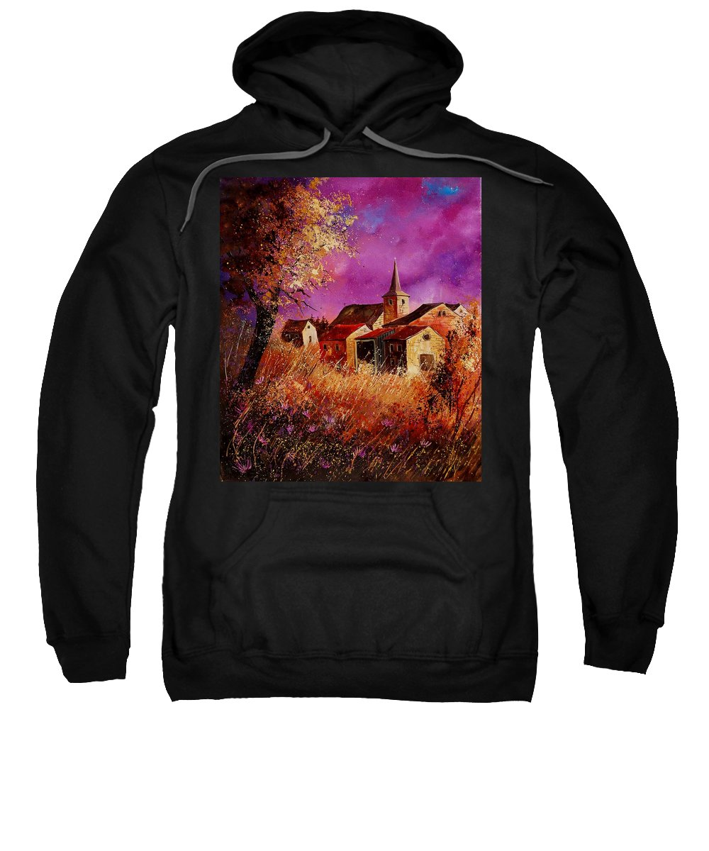 Landscape Sweatshirt featuring the painting Magic Autumn by Pol Ledent