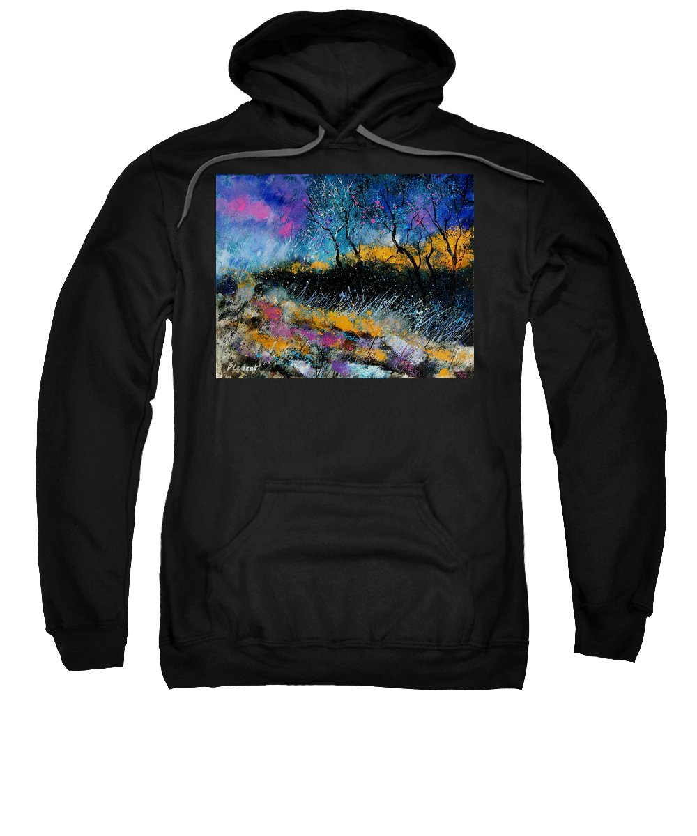 Landscape Sweatshirt featuring the painting Magic Morning Light by Pol Ledent