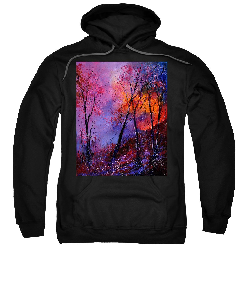 Landscape Sweatshirt featuring the painting Magic trees by Pol Ledent