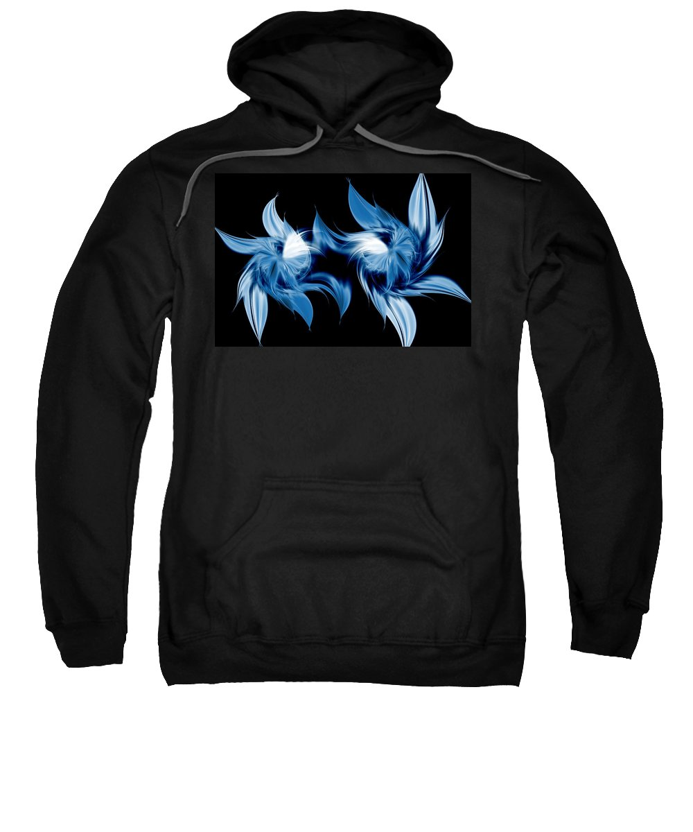 Abstract Sweatshirt featuring the digital art Magical Orchids by Georgiana Romanovna