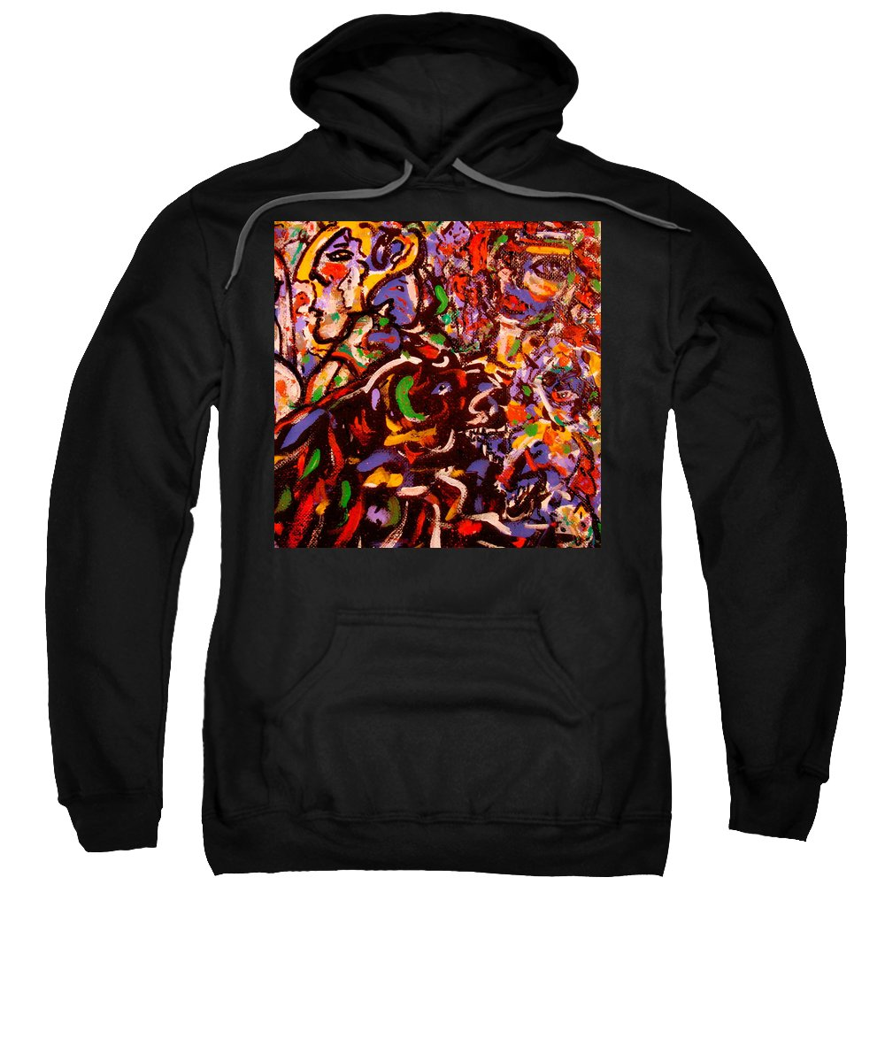 Abstract Sweatshirt featuring the painting Magician by Natalie Holland