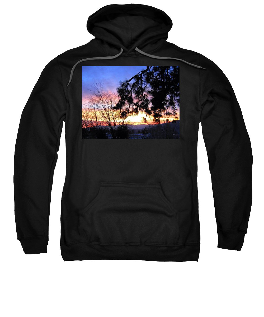 Magnificent Sweatshirt featuring the photograph Magnificent Winter Sky by Will Borden
