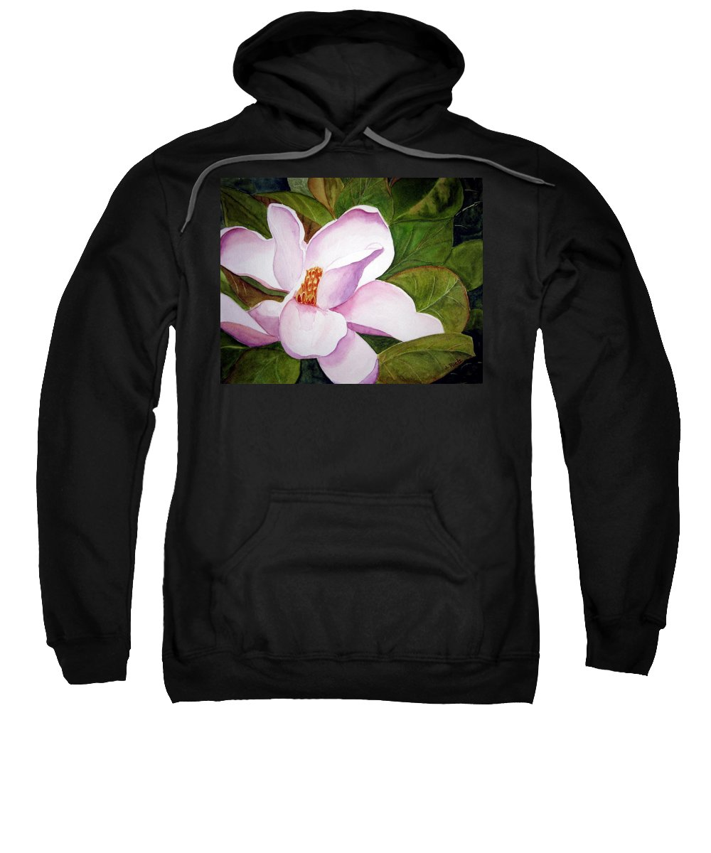 Flower Sweatshirt featuring the painting Magnolia Blossom by Julia Rietz