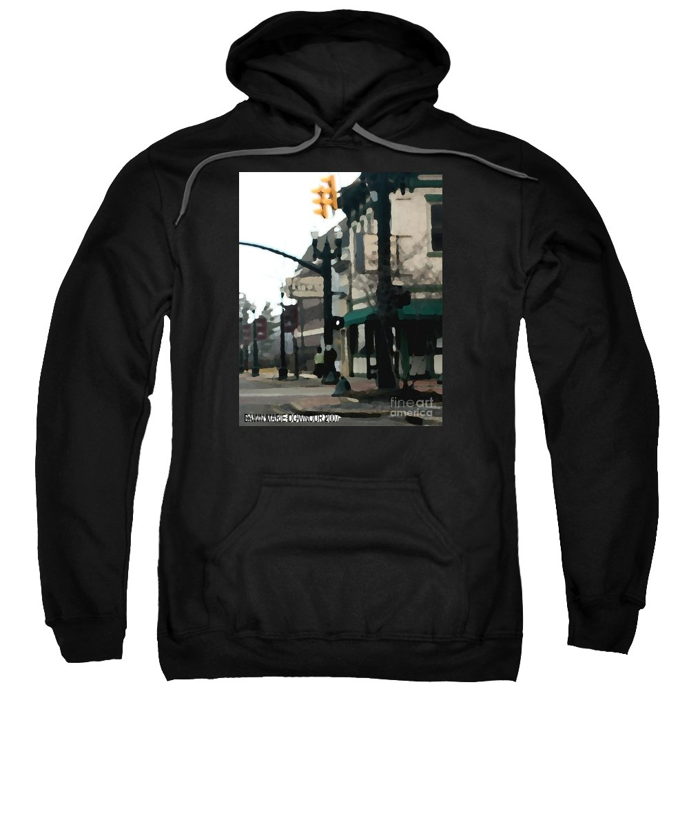 Landscape Sweatshirt featuring the photograph Main Street by Dawn Downour