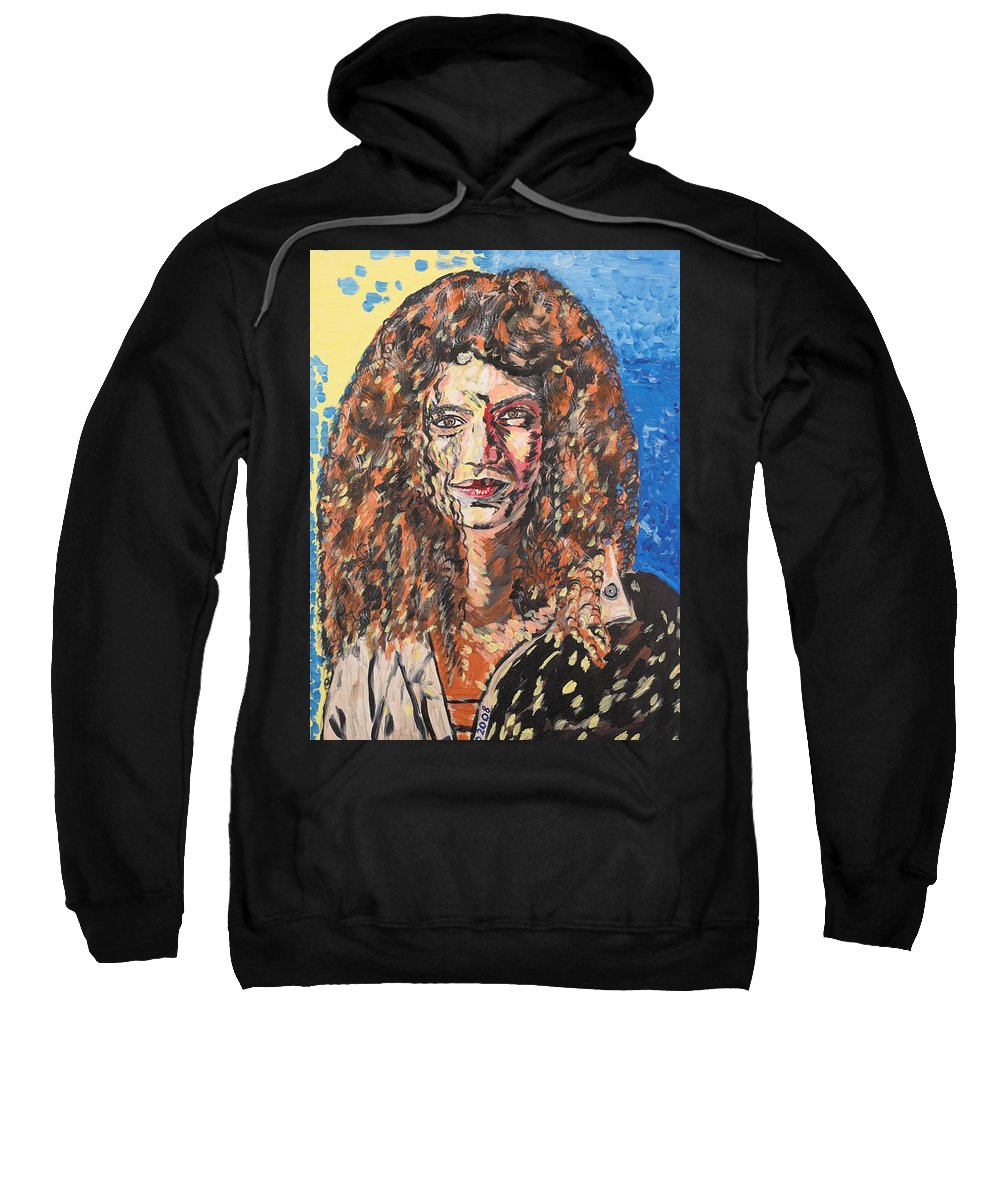 Human Sweatshirt featuring the painting Maja by Valerie Ornstein