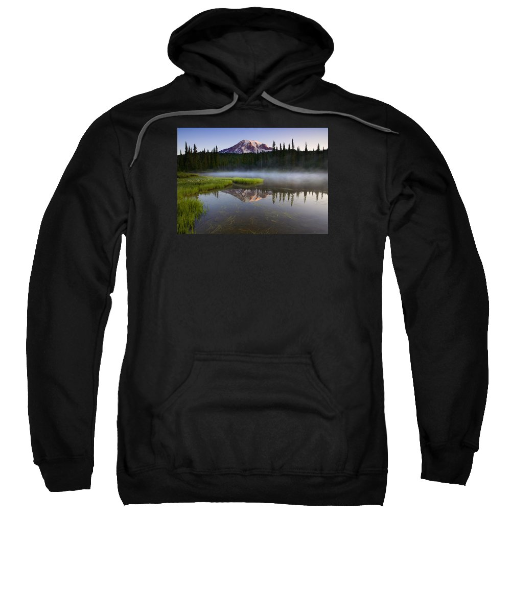 Lake Sweatshirt featuring the photograph Majestic Dawn by Mike Dawson