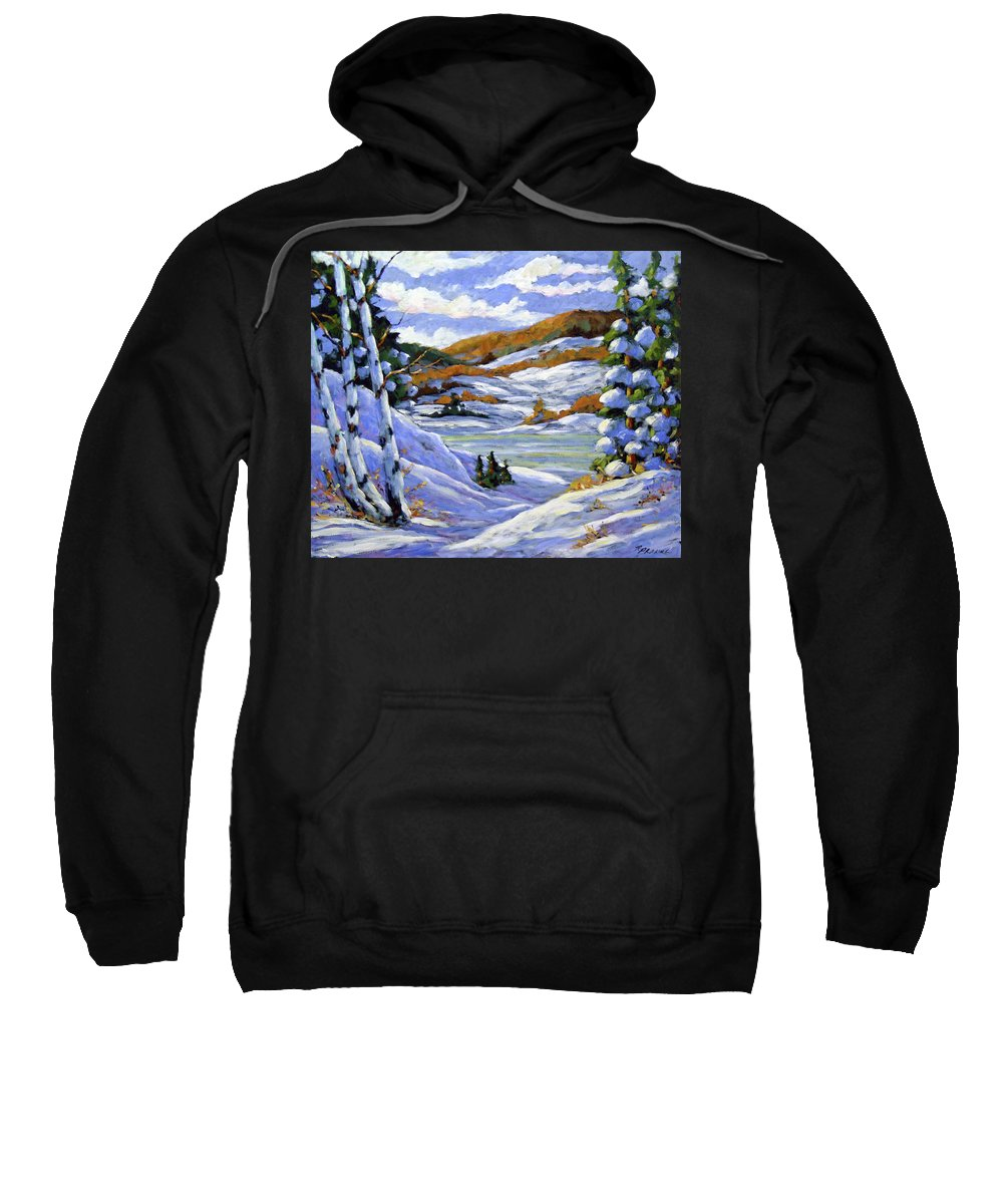 Art Sweatshirt featuring the painting Majestic Winter by Richard T Pranke