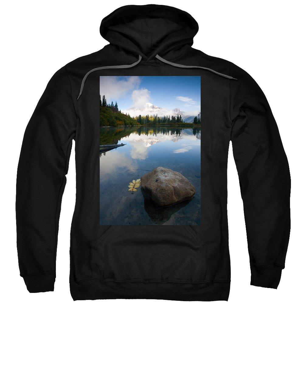 Rainier Sweatshirt featuring the photograph Majesty Hidden by Mike Dawson