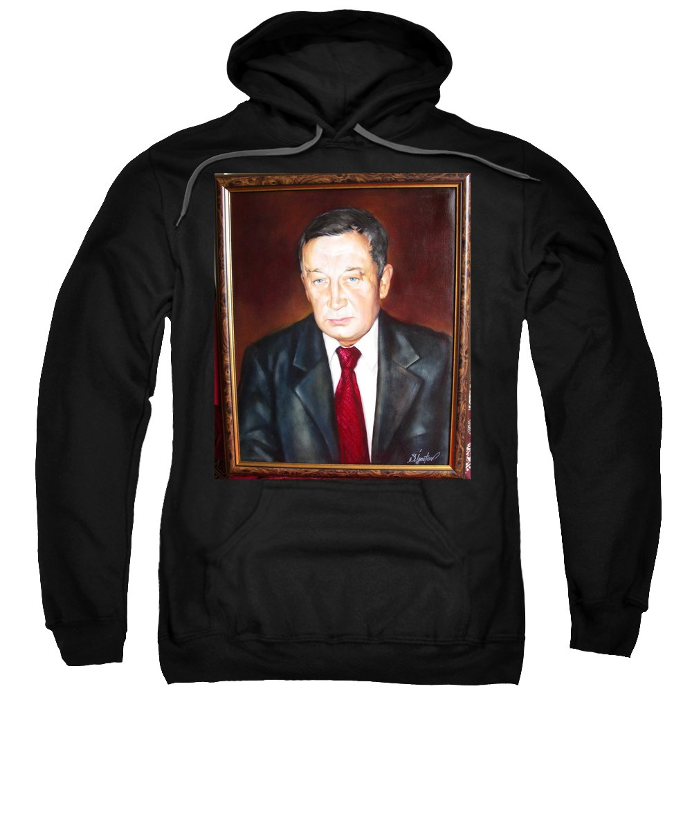 Art Sweatshirt featuring the painting Man 1 by Sergey Ignatenko