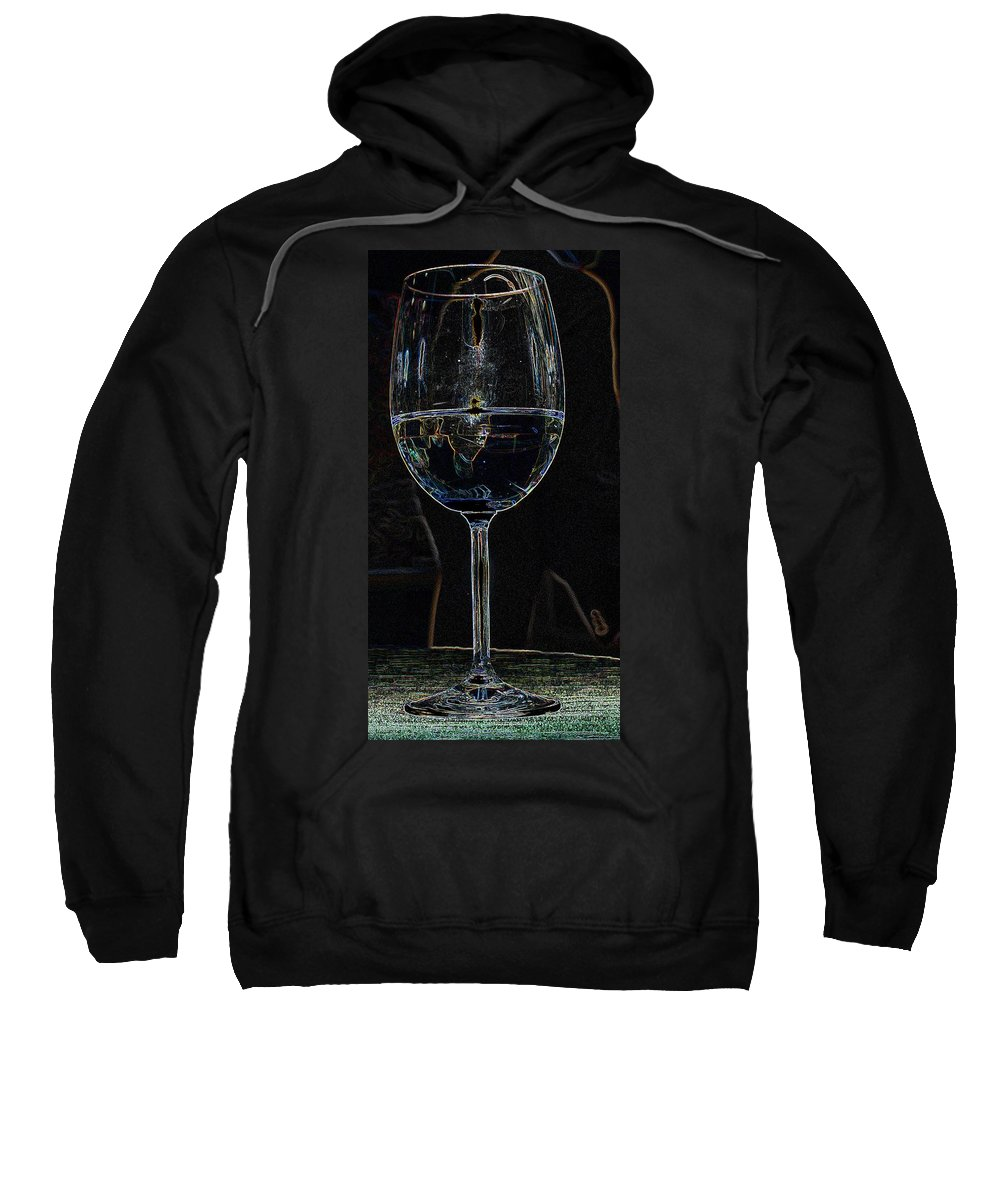 Wine Sweatshirt featuring the photograph Man In A Glass by Ian MacDonald