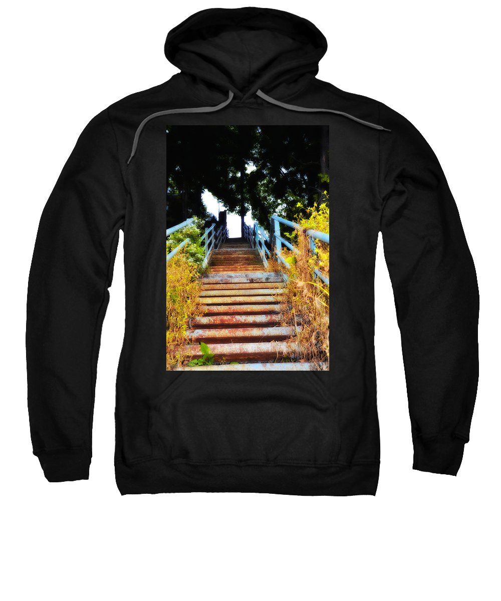 Manayunk Sweatshirt featuring the photograph Manayunk Steps by Bill Cannon