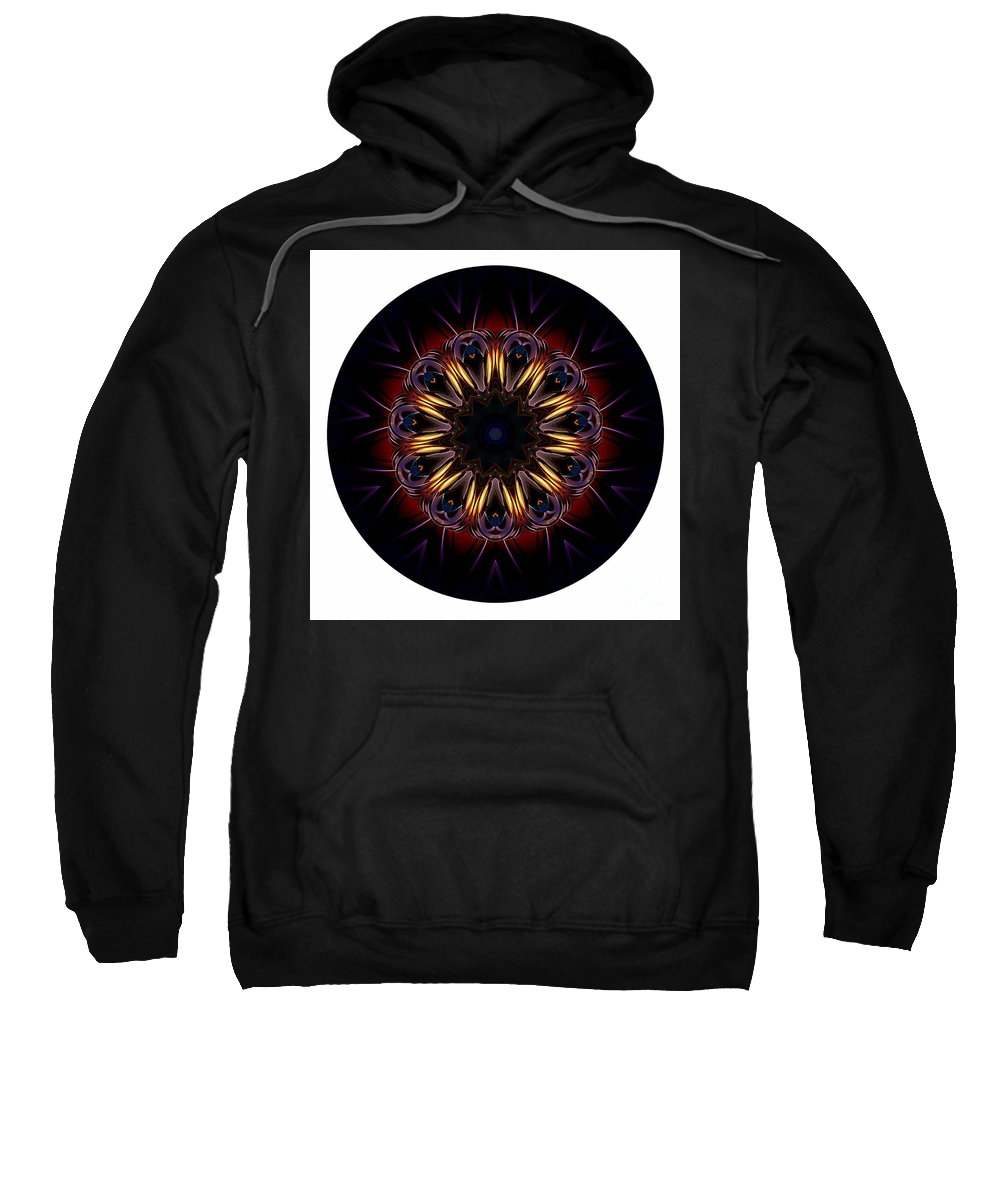 Talisman Sweatshirt featuring the digital art Mandala - Talisman 1389 by Marek Lutek