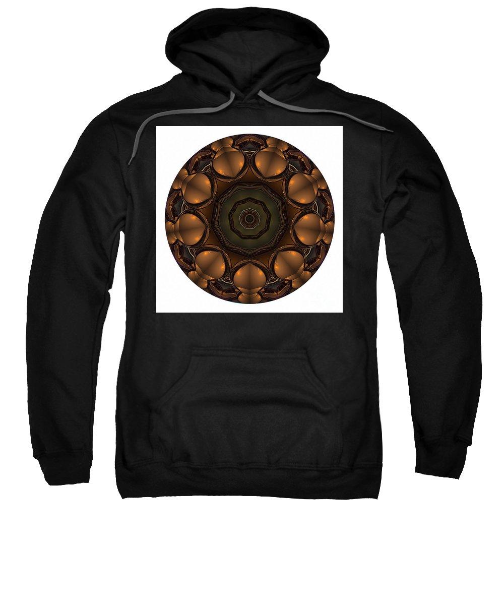 Talisman Sweatshirt featuring the digital art Mandala - Talisman 1392 by Marek Lutek