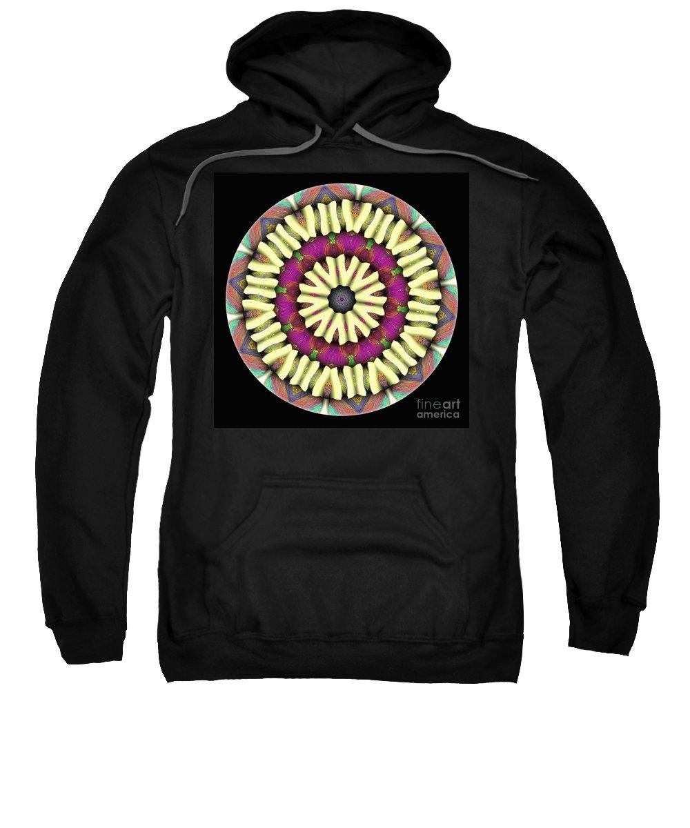Talisman Sweatshirt featuring the digital art Mandala - Talisman 1686 by Marek Lutek