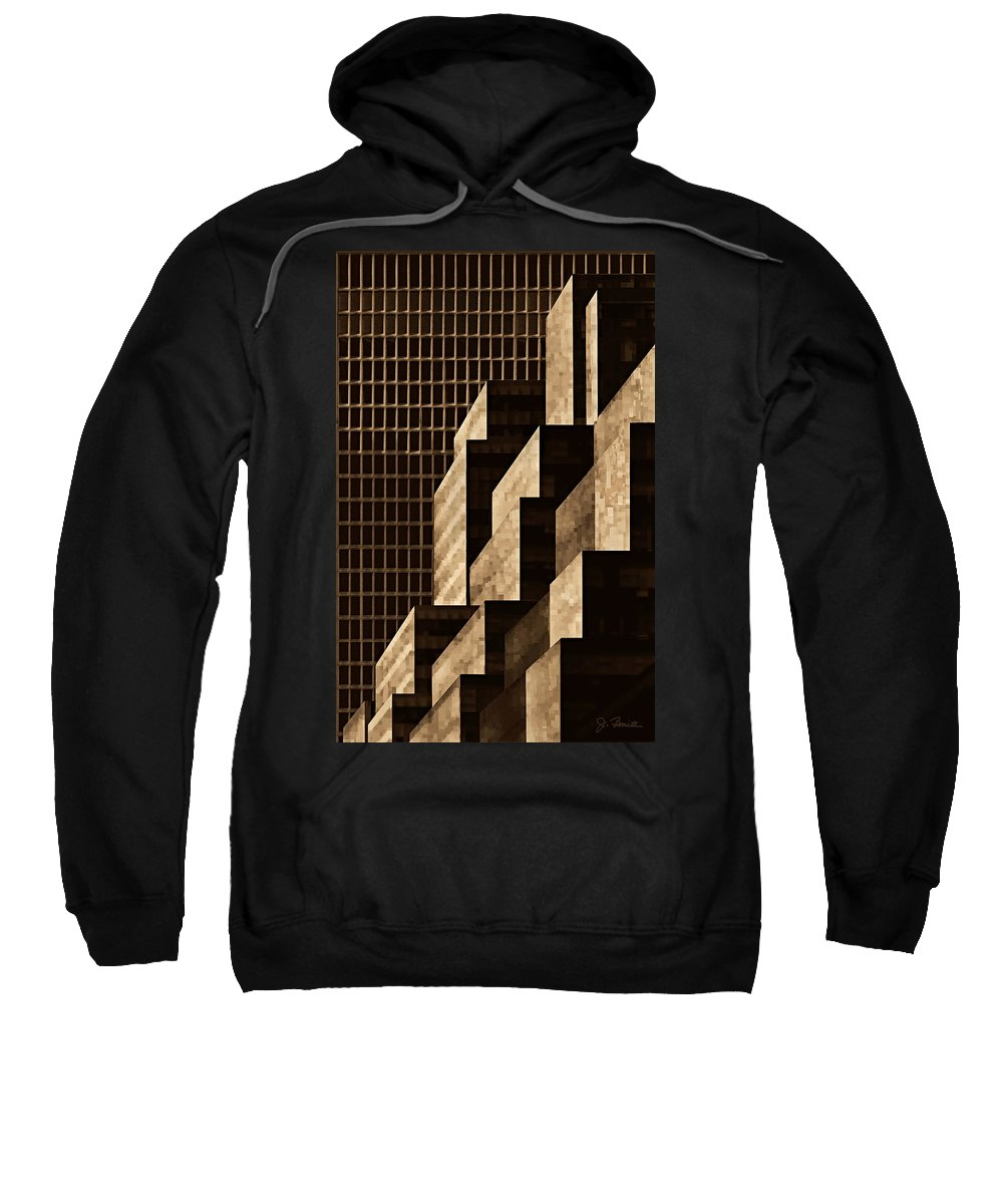 New York Sweatshirt featuring the digital art Manhattan No. 3 by Joe Bonita