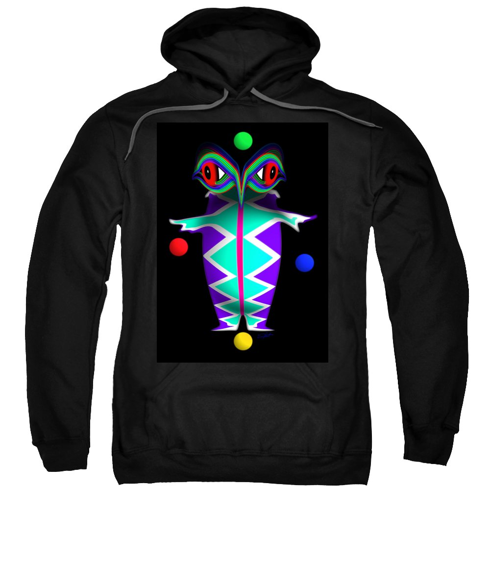 Native American Sweatshirt featuring the painting Manitou by Charles Stuart